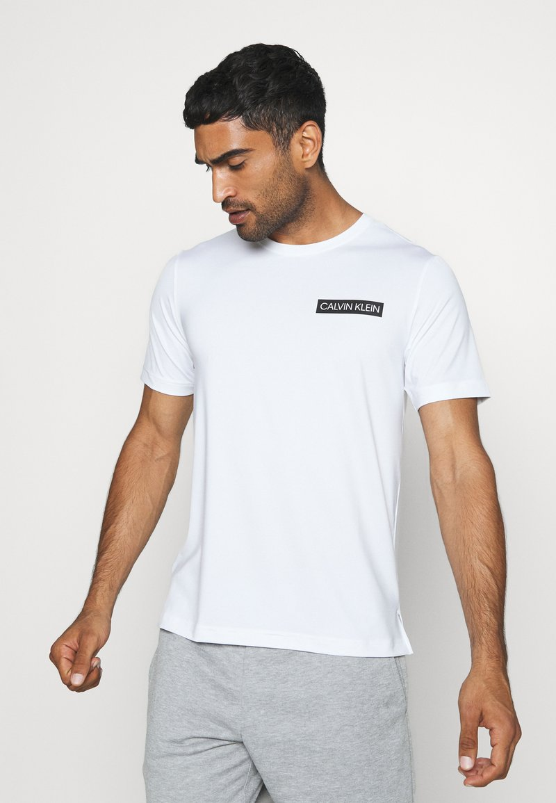 Calvin Klein Performance - SHORT SLEEVE - Print T-shirt - white