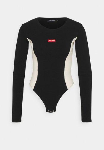LEO BODYSUIT - Long sleeved top - black/beige