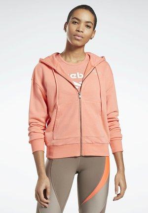 REEBOK IDENTITY ZIP-UP TRACK TOP - Zip-up hoodie - red