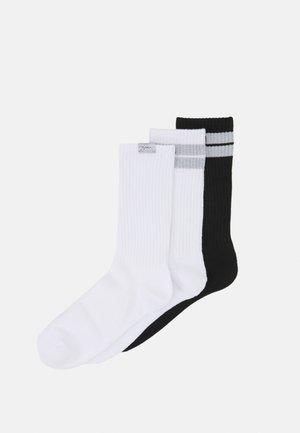 REFLECTIVE CREW 3 PACK UNISEX - Ponožky - black/white