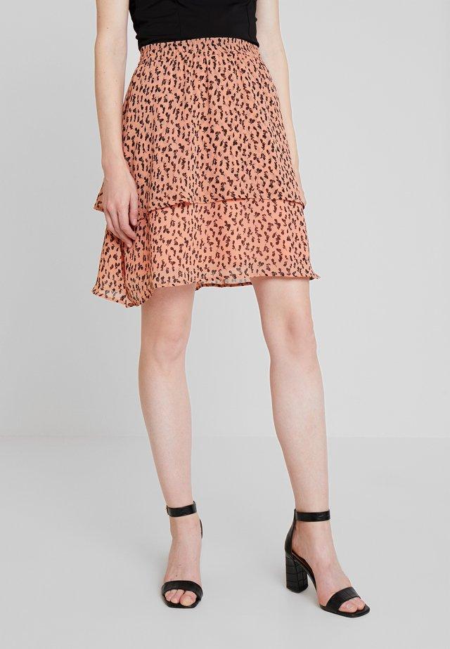 MORSA ROSALIE SKIRT - Áčková sukně - pink/black