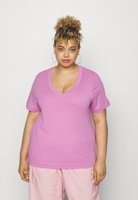 Selected Femme Curve - SLFANDARD NECK TEE - Jednoduché triko - opera mauve - 0