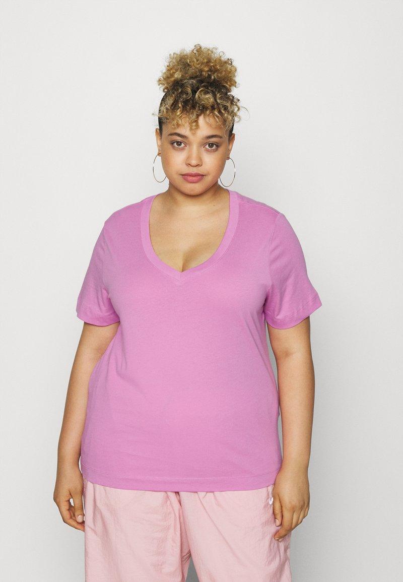 Selected Femme Curve - SLFANDARD NECK TEE - Jednoduché triko - opera mauve