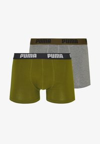 Puma - BASIC 2 PACK - Panties - grey/green - 4