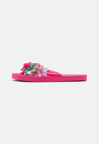 WITH FLOWER MIX - Pool shoes - fuchsia