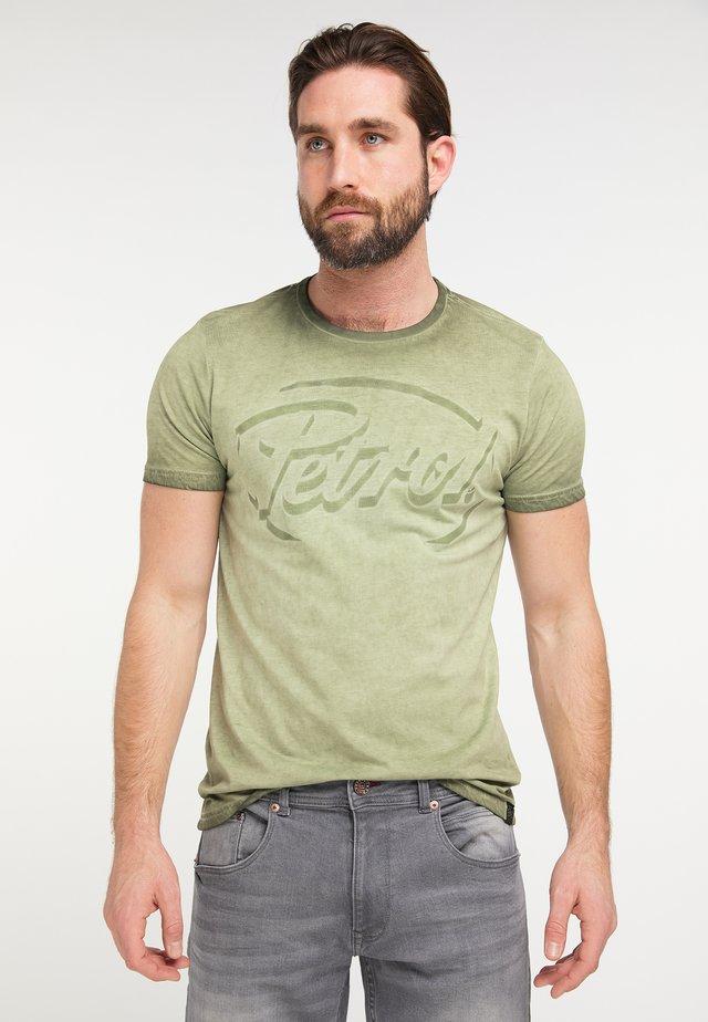 Print T-shirt - greenstone