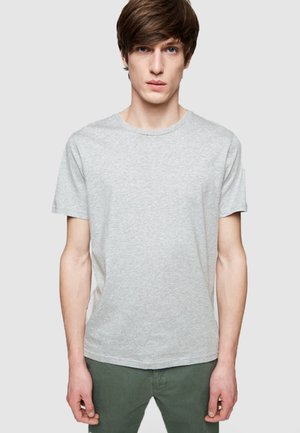 JAAMES - Basic T-shirt - grey melange