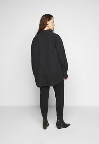 Cotton On Curve - CURVE LONGLINE  - Button-down blouse - washed black - 2