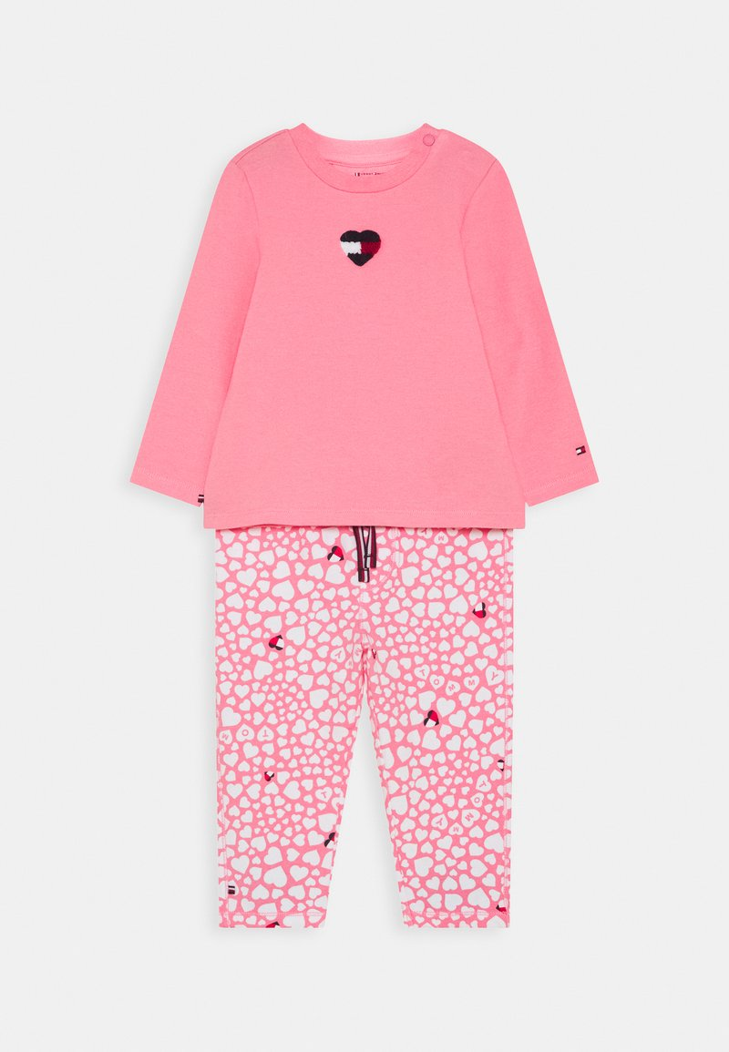 Tommy Hilfiger - BABY PRINTED SET - Trousers - pink