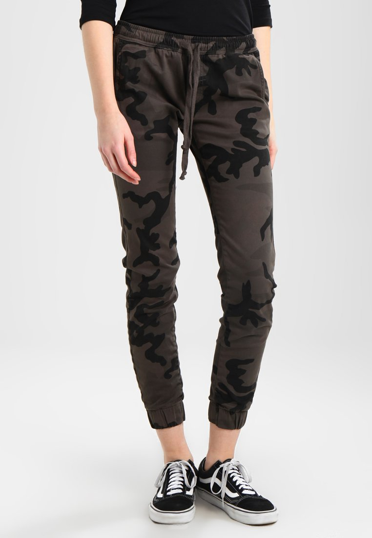 Urban Classics - LADIES CAMO PANTS - Trousers - grey
