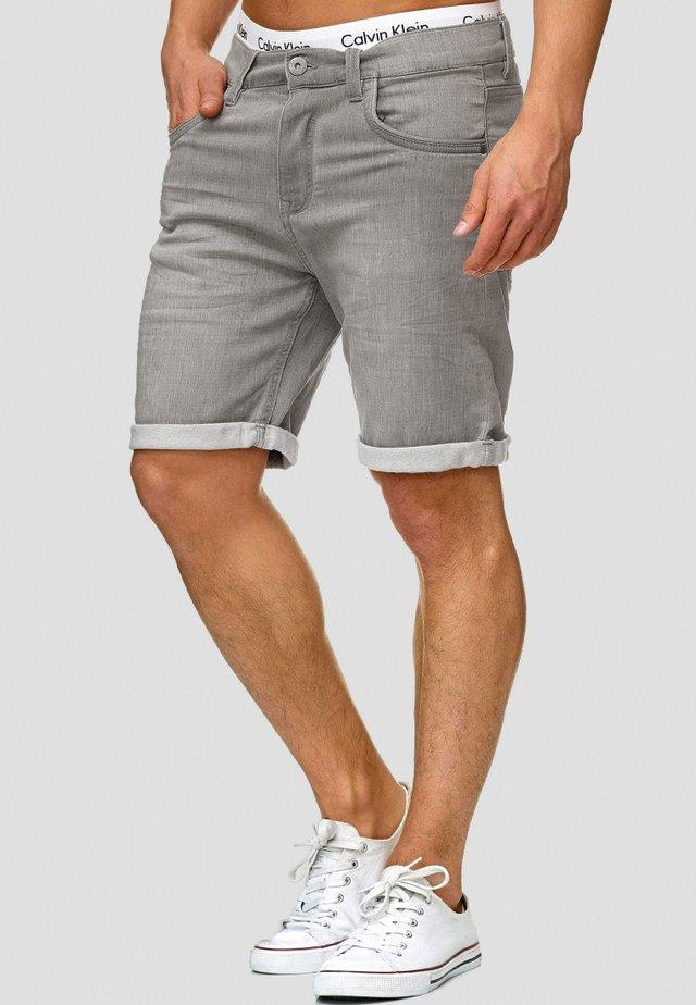 LONAR - Denim shorts - lt grey