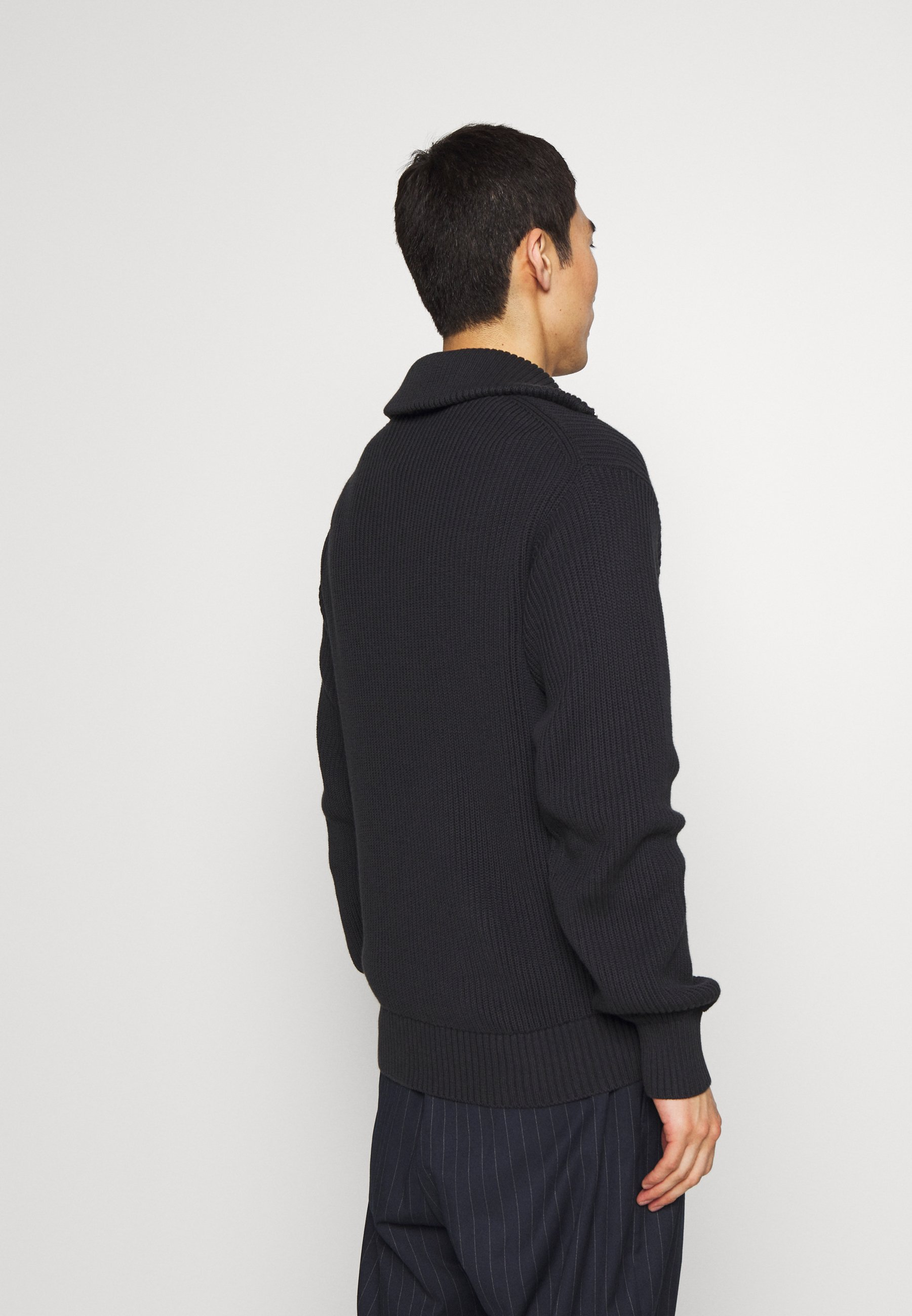 Joseph HIGH ZIP COTE ANGLAISE - Pullover - charcoal