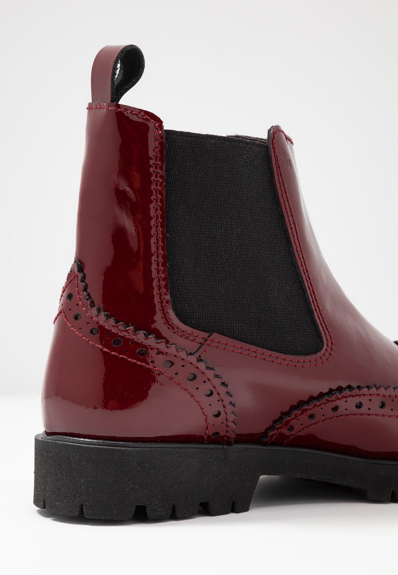 Korte laarzen charol guinda