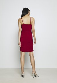 WAL G. - RUCHED STRAPPY DRESS - Cocktailkjole - red - 2
