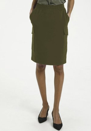 Pencil skirt - grape leaf