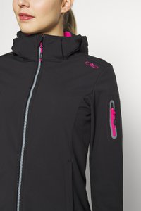 CMP - WOMAN JACKET ZIP HOOD - Soft shell jacket - antracite/bouganville - 6