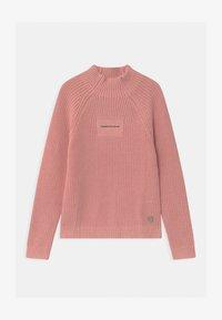 Calvin Klein Jeans - OCO MOCK NECK BOXY - Svetr - pink - 0