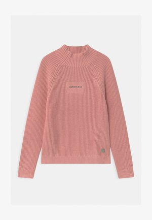 OCO MOCK NECK BOXY - Trui - pink