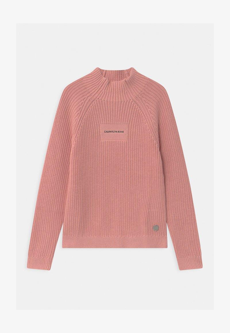 Calvin Klein Jeans - OCO MOCK NECK BOXY - Svetr - pink