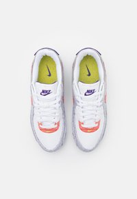 Nike Sportswear - AIR MAX 90 UNISEX - Sneakers laag - white/electric green/court purple - 3