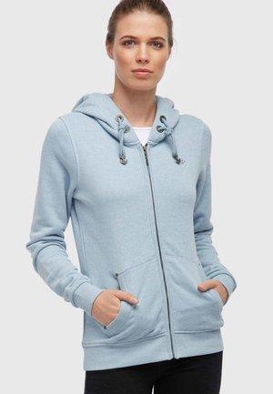 Zip-up hoodie - light blue melange