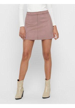 ONLLINEA BONDED - A-line skirt - burlwood