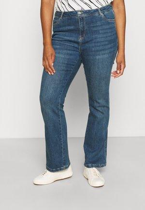 VMSAGA - Straight leg jeans - dark blue denim