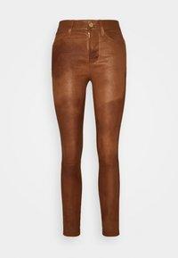 Frame Denim - LE HIGH SKINNY - Pantalon en cuir - tobacco - 0