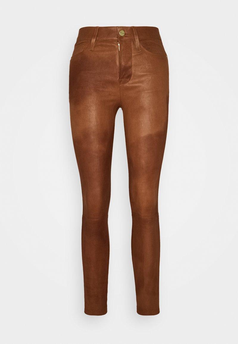 Frame Denim - LE HIGH SKINNY - Pantalon en cuir - tobacco