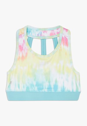 GIRLS SPORTS BRA - Sport BH - rainbow/light blue