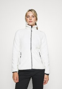 CMP - WOMAN JACKET - Fleece jacket - gesso/antracite - 0