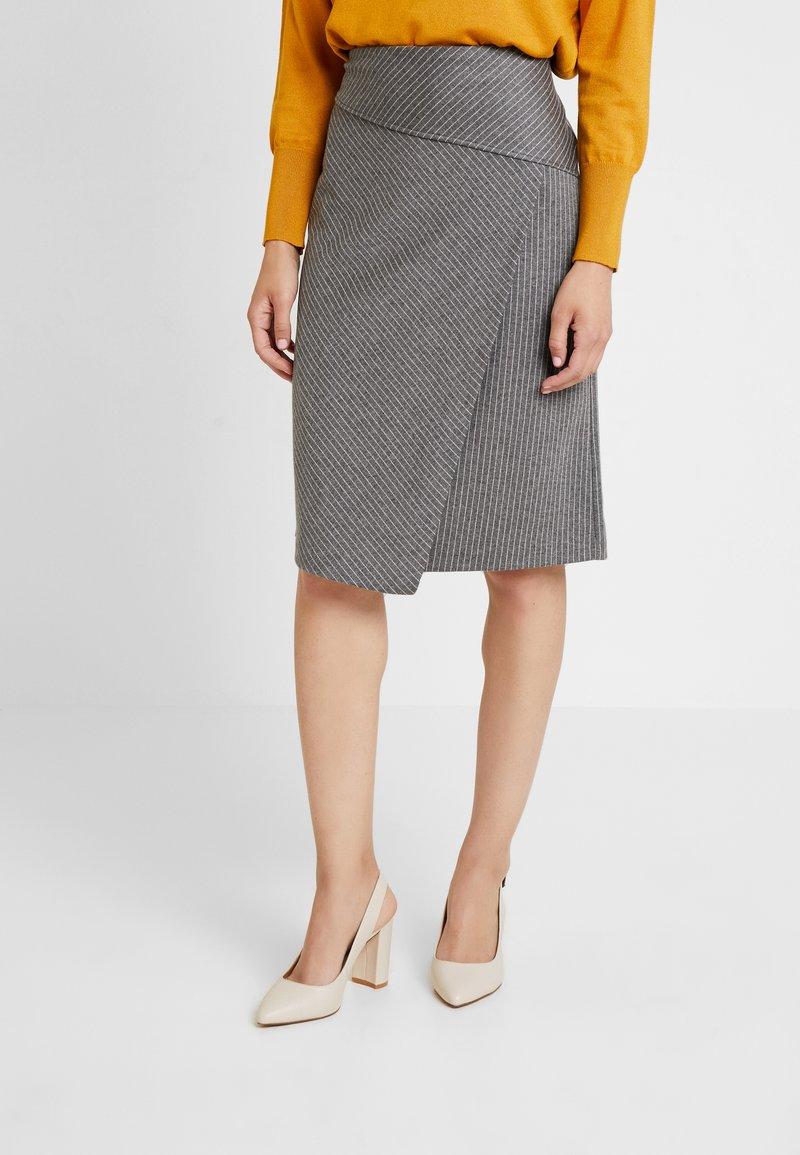 Soyaconcept - AMAJA - A-snit nederdel/ A-formede nederdele - dark grey melange