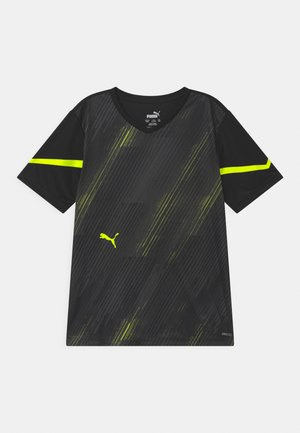 INDIVIDUAL FLASH UNISEX - Print T-shirt - puma black/yellow alert