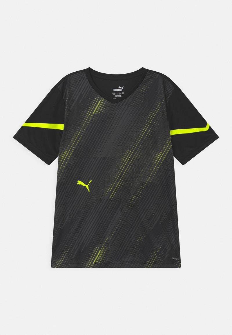 Puma - INDIVIDUAL FLASH UNISEX - Print T-shirt - puma black/yellow alert