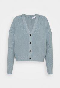 Proenza Schouler White Label - CARDIGAN BUTTON BACK - Cardigan - steel blue - 5