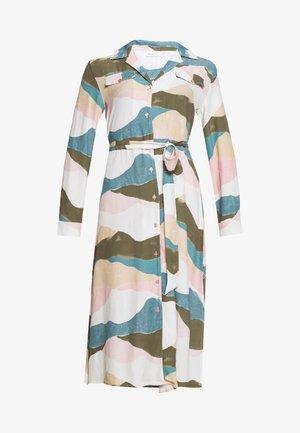 THEA DRESS - Korte jurk - olive green/dusty pink