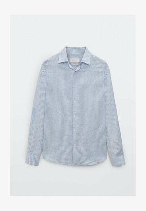 SLIM FIT - Formal shirt - blue/black denim