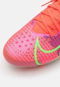 Nike Performance - MERCURIAL 8 PRO AG - Fodboldstøvler m/ faste knobber - bright crimson/metallic silver - 5