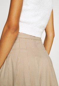 Monki - TINDRA SKIRT - Pleated skirt - beige medium dusty - 3