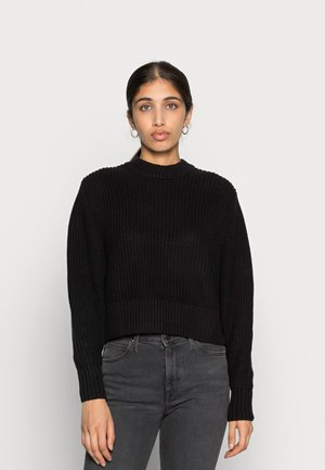 AGATA BASIC - Stickad tröja - black dark
