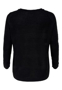 ONLY Carmakoma - CARAIRPLAIN PULLOVER - Jumper - black - 5
