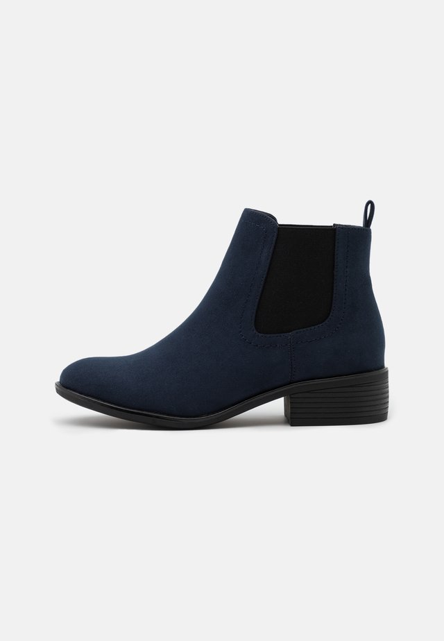 WIDE FIT MAPLE CHELSEA  - Boots à talons - navy