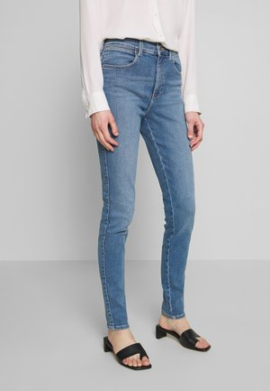 HIGH RISE - Jeans Skinny Fit - canary blue