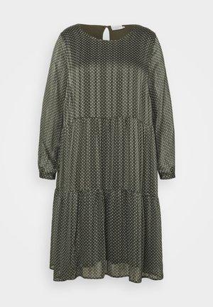 KCAGNETE DRESS - Day dress - grape leaf/chalk/gold