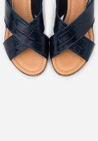Jana - Platform sandals - navy - 5