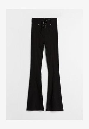 MIT SCHLEIFE  - Kalhoty - black