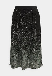 comma casual identity - A-line skirt - grey/black - 0