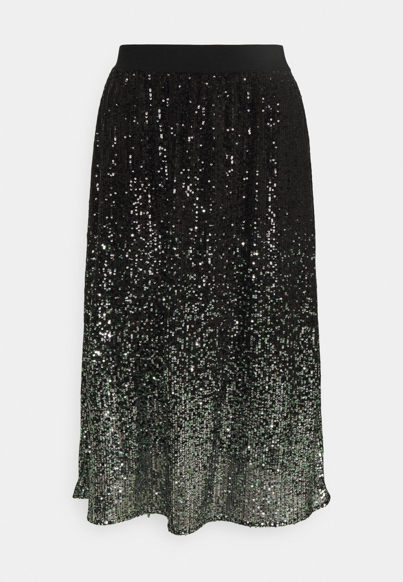 comma casual identity - A-line skirt - grey/black