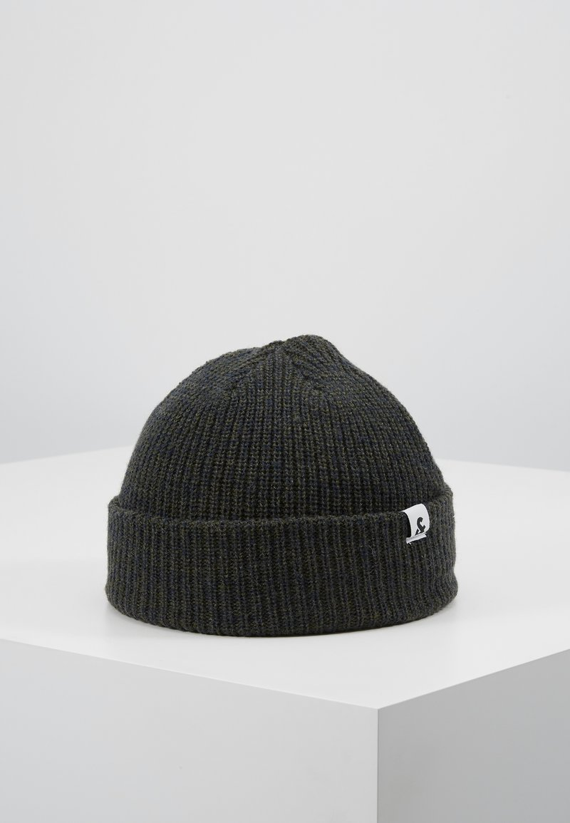 Jack & Jones - JACTWISTED SHORT BEANIE - Beanie - forest night/navy blazer