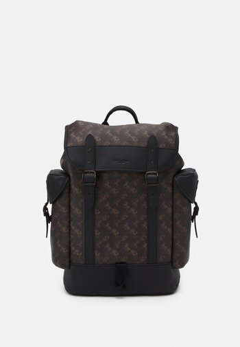 HITCH BACKPACK HORSE AND CARRIAGE PRINT UNSEX - Batoh - truffle